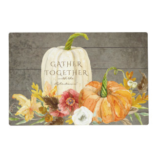 Gather Together Harvest Rustic Thanksgiving Decor Placemat