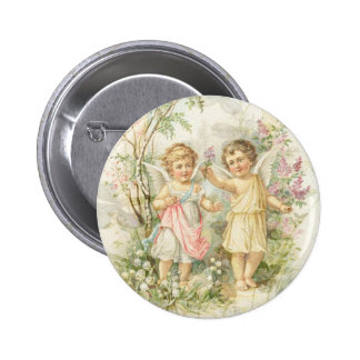 Gather - Two Angels Gathering Flowers Pins
