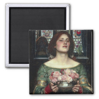 Gather Ye Rosebuds 2 Inch Square Magnet