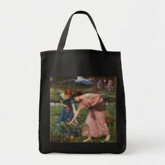 Gather Ye Rosebuds by John W. Waterhouse Grocery Tote Bag