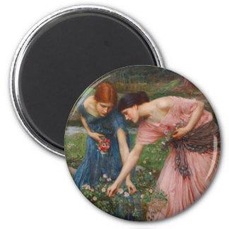 Gather Ye Rosebuds by John W. Waterhouse Fridge Magnets