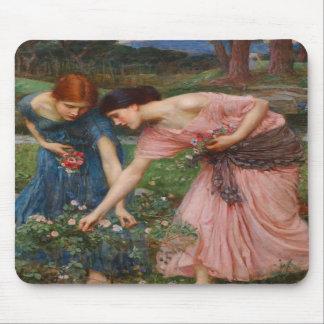 Gather Ye Rosebuds by John W Waterhouse Mouse Mat