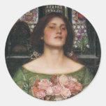 Gather Ye Rosebuds Classic Round Sticker