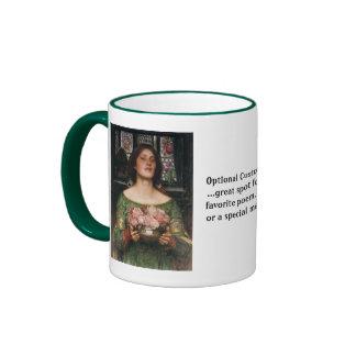 Gather Ye Rosebuds Ringer Coffee Mug