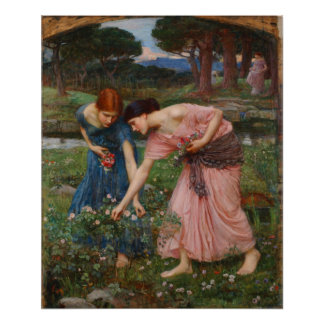 Gather Ye Rosebuds Poster By John W. Waterhouse
