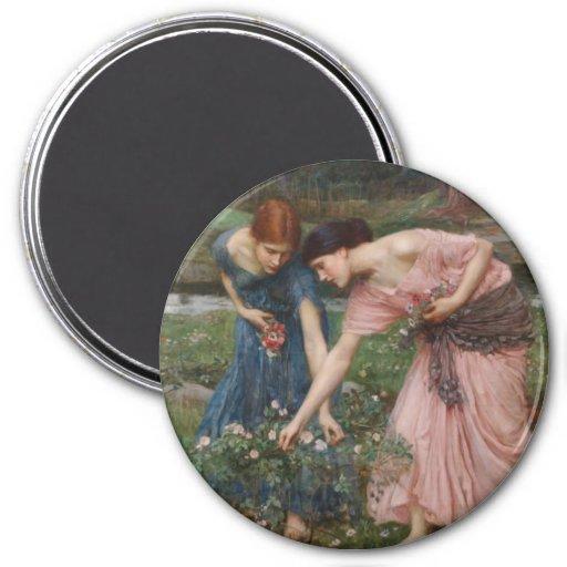 Gather Ye Rosebuds While Ye May 3 Inch Round Magnet
