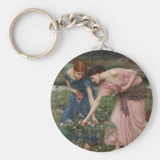 Gather Ye Rosebuds While Ye May Basic Round Button Keychain
