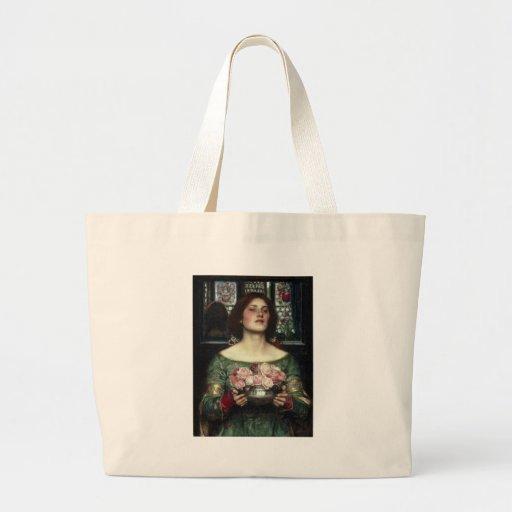 'Gather Ye Rosebuds While Ye May' John William Wat Tote Bags