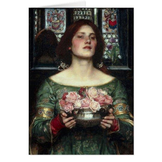 'Gather Ye Rosebuds While Ye May' John William Wat Card