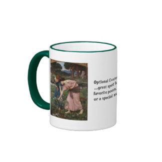 Gather Ye Rosebuds While Ye May Ringer Coffee Mug