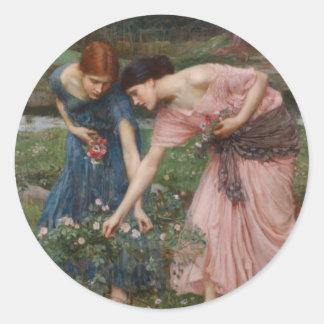 Gather Ye Rosebuds While Ye May Sticker