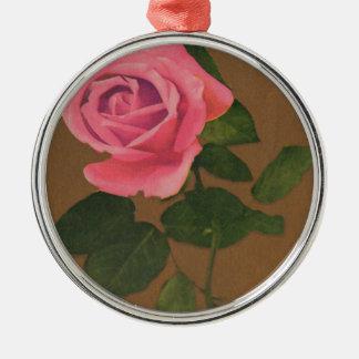Gather Ye Rosebuds While Ye May  Vintage Postcard Metal Ornament