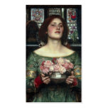 Gather Ye Rosebuds While Ye May - Waterhouse Business Card Templates