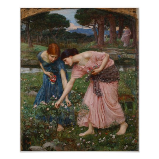 Gather Ye Rosebuds While Ye May - Waterhouse Poster