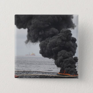 Gathered concentrated oil burns button