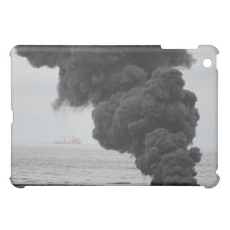 Gathered concentrated oil burns iPad mini case