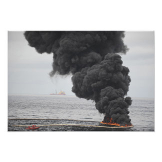 Gathered concentrated oil burns photo print