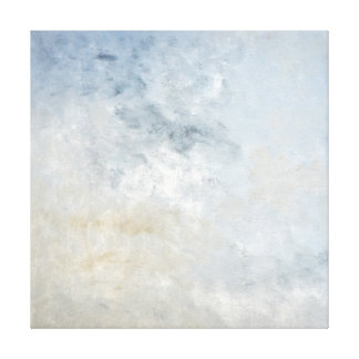 'Gathered' Grey and Beige Abstract Art Canvas Print