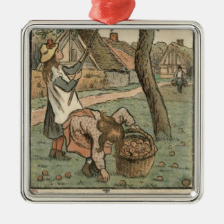 Gathering Apples, from 'Travaux des Champs', engra Christmas Tree Ornament
