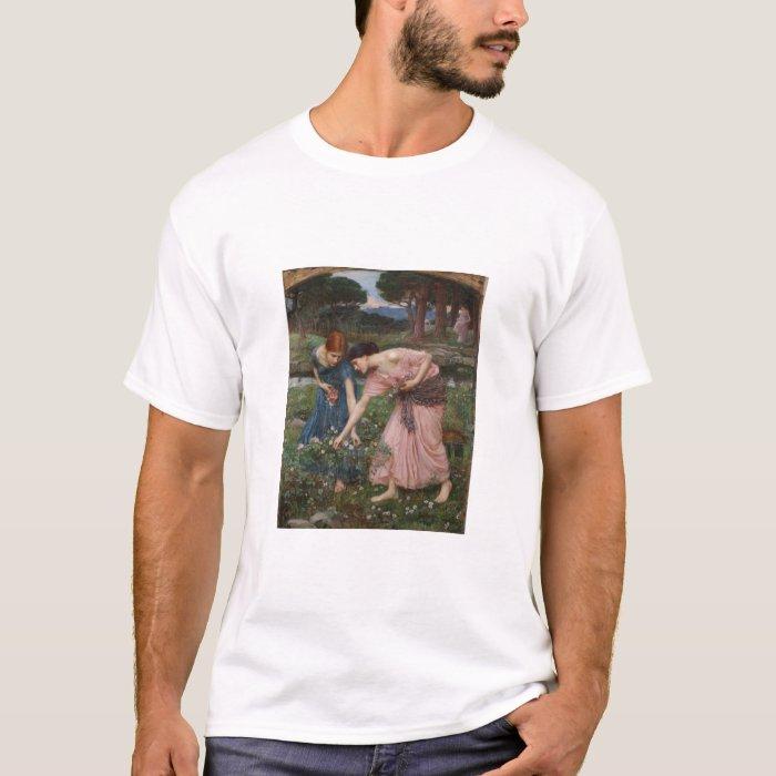 Gathering Flowers by John Waterhouse T-Shirt