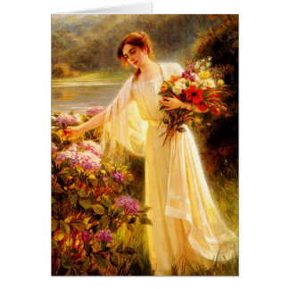 Gathering Flowers Greeting Cards