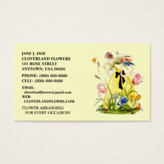 GATHERING FLOWERS FLORAL BUSINESS CARDS! BUSINESS CARD