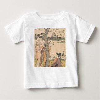 Gathering Flowers in Garden - Katsukawa Shunchō Baby T-Shirt