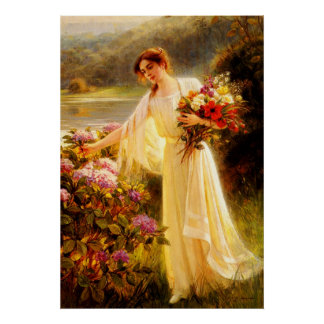 Gathering Flowers Poster