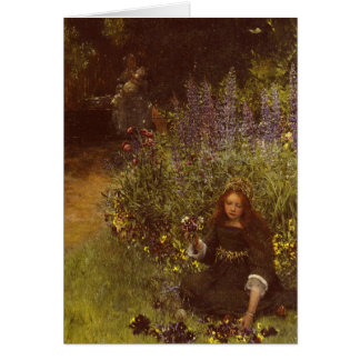 Gathering Pansies by Laura Teresa Alma-Tadema Card