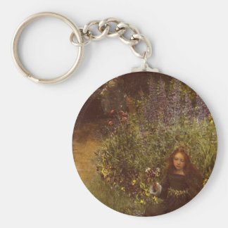 Gathering Pansies by Laura Teresa Alma-Tadema Keychain