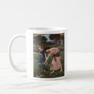 Gathering Rosebuds by John William Waterhouse Classic White Coffee Mug