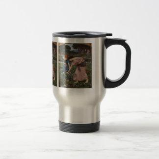 Gathering Rosebuds by John William Waterhouse 15 Oz Stainless Steel Travel Mug