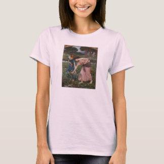 Gathering Rosebuds by John William Waterhouse T-Shirt