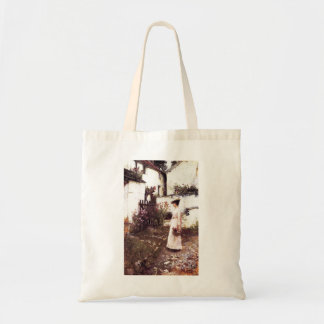 Gathering Summer Flowers by John Waterhouse Canvas Bags