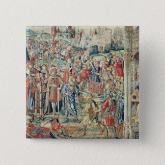 Gathering the Booty, Tapestry of David and Bathshe Button
