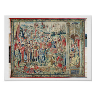 Gathering the Booty, Tapestry of David and Bathshe Poster