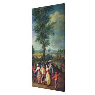 Gathering the Harvest Canvas Print