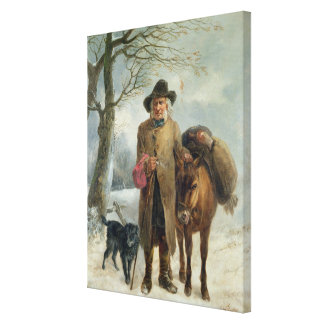 Gathering winter fuel canvas print
