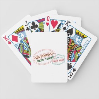 Gatineau Been there done that Bicycle Playing Cards
