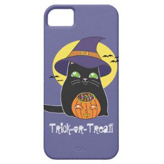 Gatito adaptable de la bruja de Halloween iPhone 5 Funda
