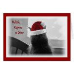 Gatito adorable del navidad tarjetón