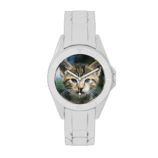 Gatito al aire libre reloj de mano