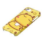 Gatito amarillo iPhone 5 carcasa