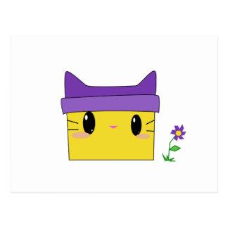 Gatito amarillo postal