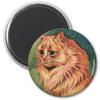 Gatito anaranjado del gato del pelo largo iman de nevera