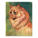Gatito anaranjado del gato del pelo largo invitación 10,8 x 13,9 cm
