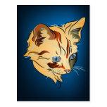 Gatito anaranjado del Tabby con los ojos azules en