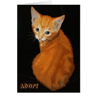 Gatito anaranjado Notecard Tarjeta Pequeña