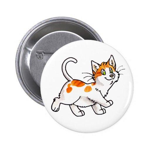 Gatito anaranjado y blanco pins