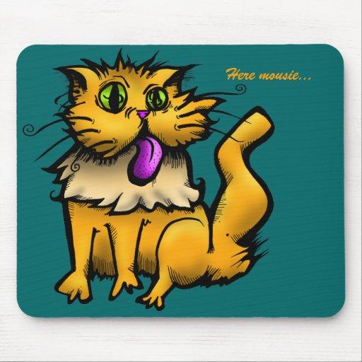 Gatito, aquí mousie… tapete de ratón